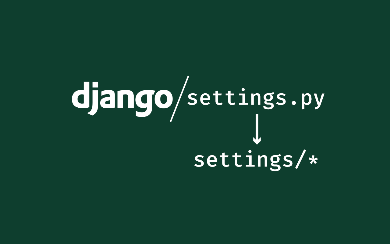 Splitting Django Settings for Local and Production Development